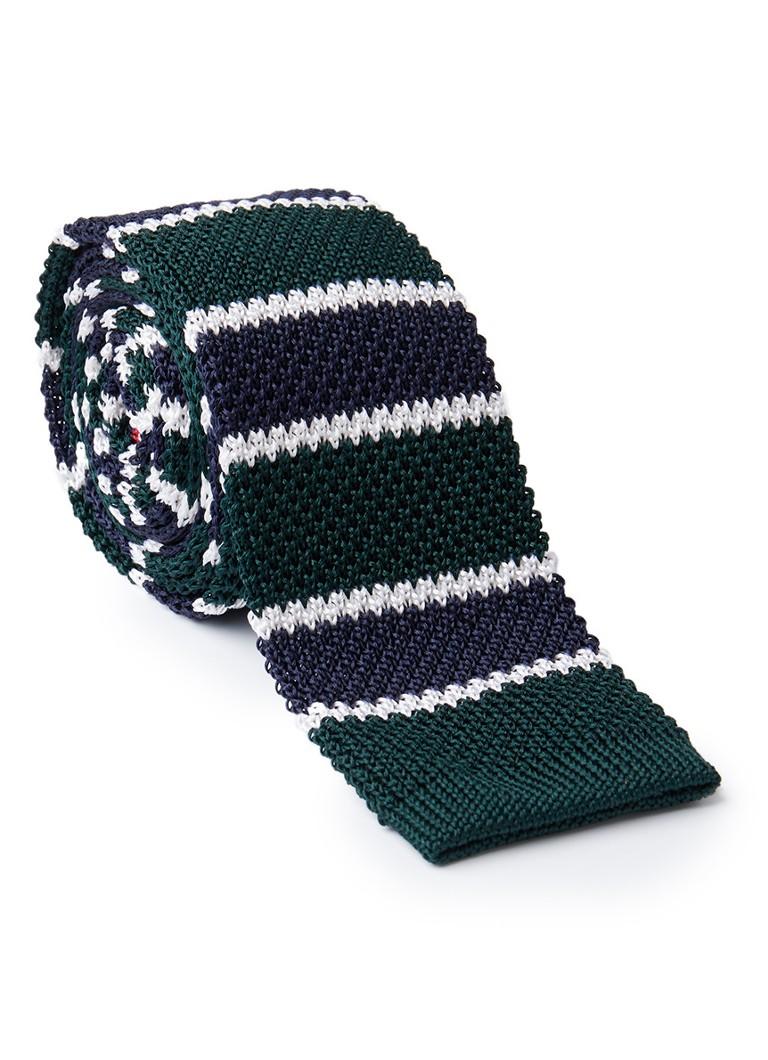 Tommy Hilfiger Fijngebreide stropdas van zijde met streepdessin