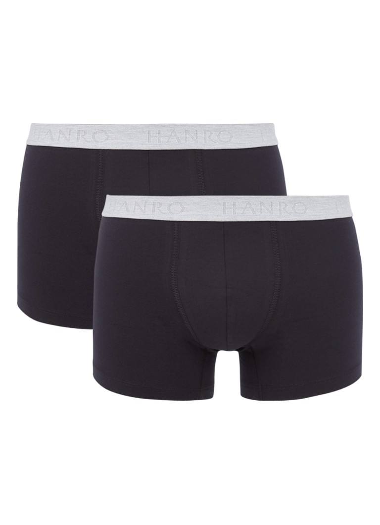 Hanro Cotton Essentials boxershorts in uni in 2-pack