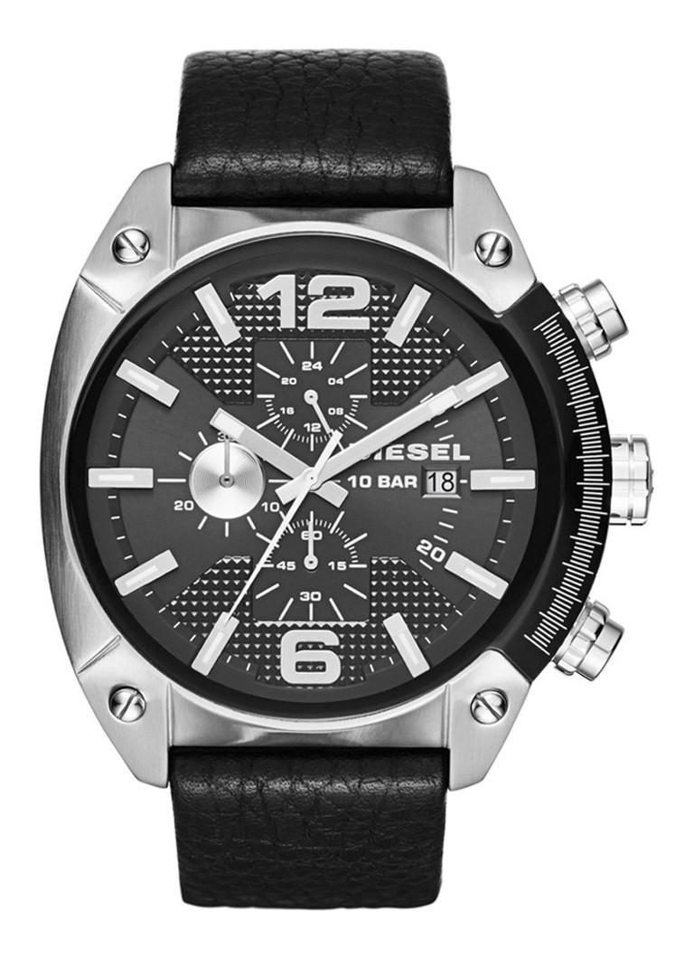 Diesel Horloge Overflow zwart DZ4341