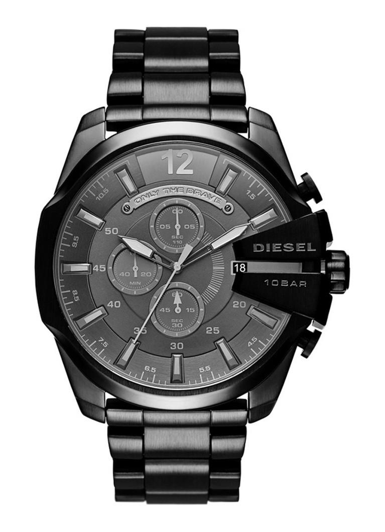 Diesel Horloge Mega Chief zwart DZ4355