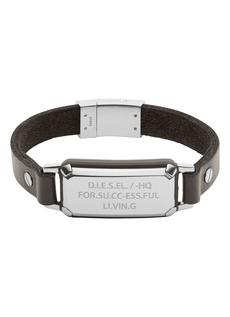 Diesel Armband Leather Spec van leer