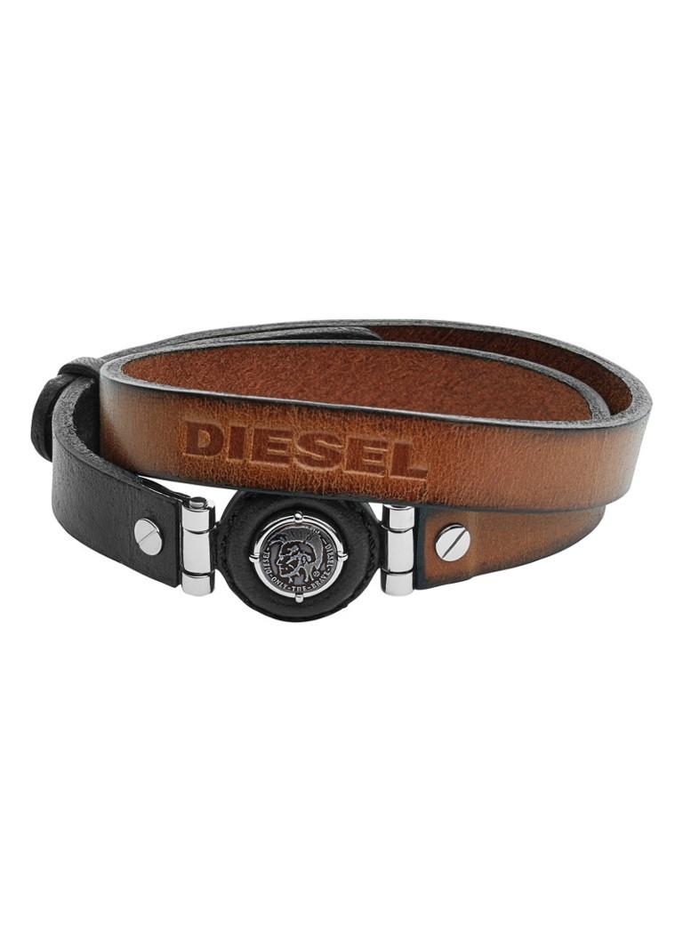 Diesel Armband Leather Spec van leer