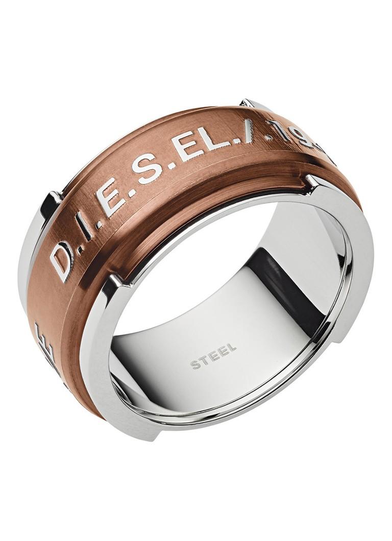 Diesel Ring steel van roestvrijstaal met logo DX1097040