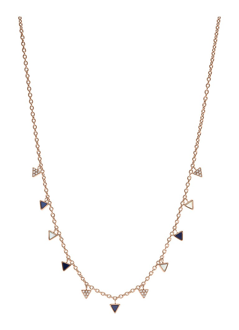 Fossil Ketting fashion van roestvrij staal & parelmoer