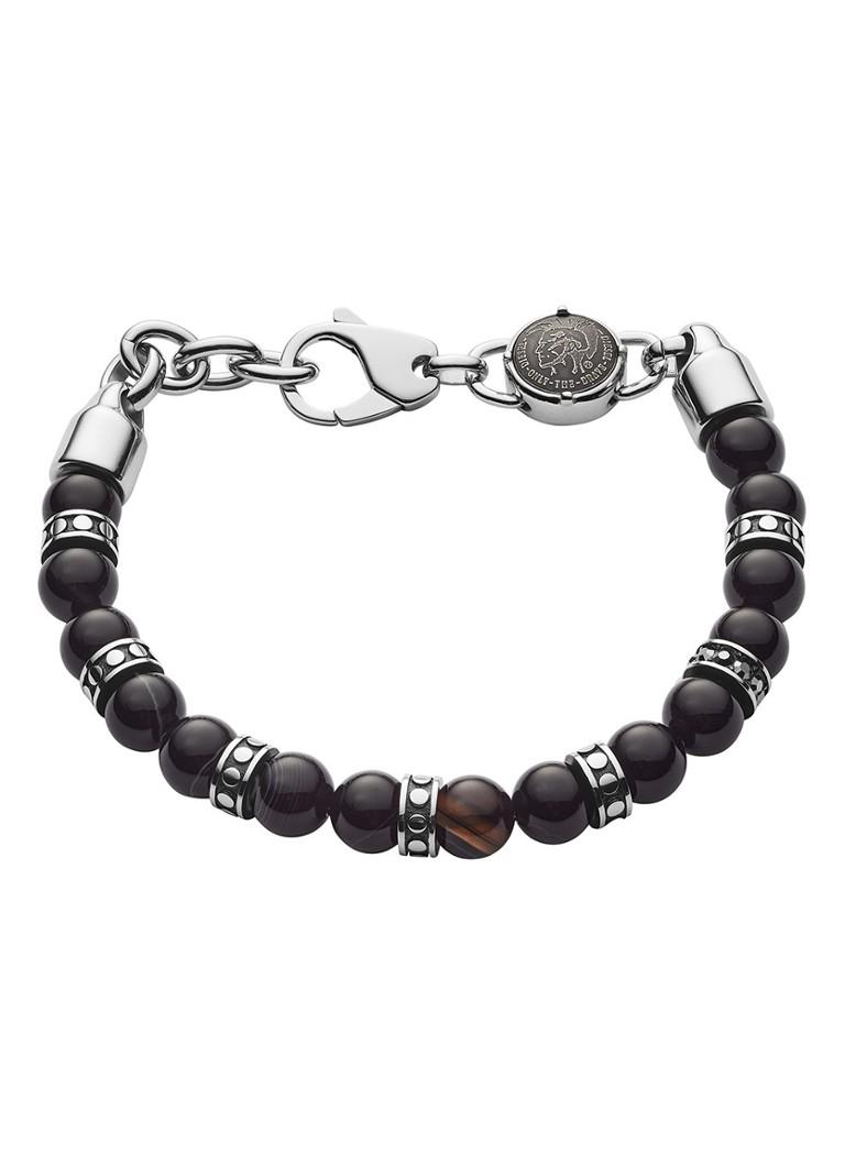 Diesel Beads armband met halfelsteen DX