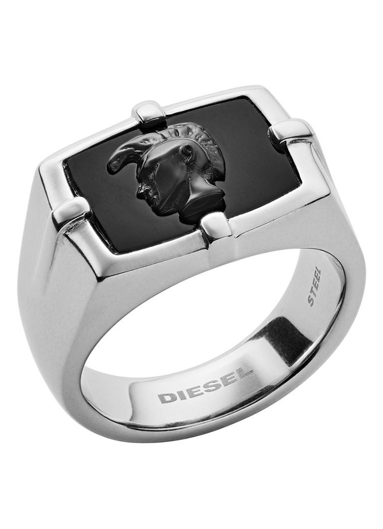 Diesel Steel ring van roestvrij staal met halfedelsteen DX1175040 kopen