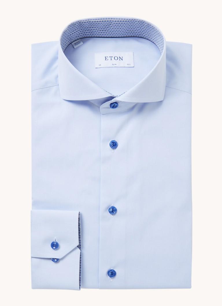 Eton Slim fit overhemd met stretch