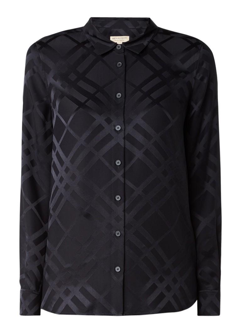 BURBERRY Aster blouse van zijde met ruitdessin