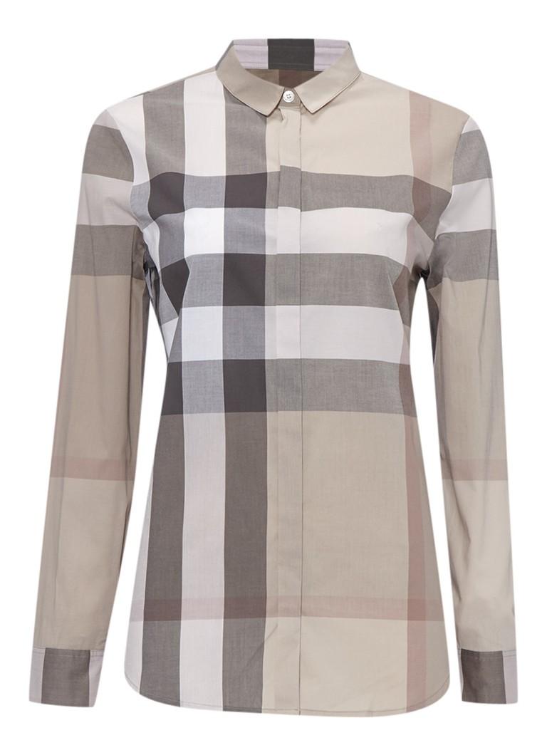 BURBERRY Relaxte blouse met ruitdessin