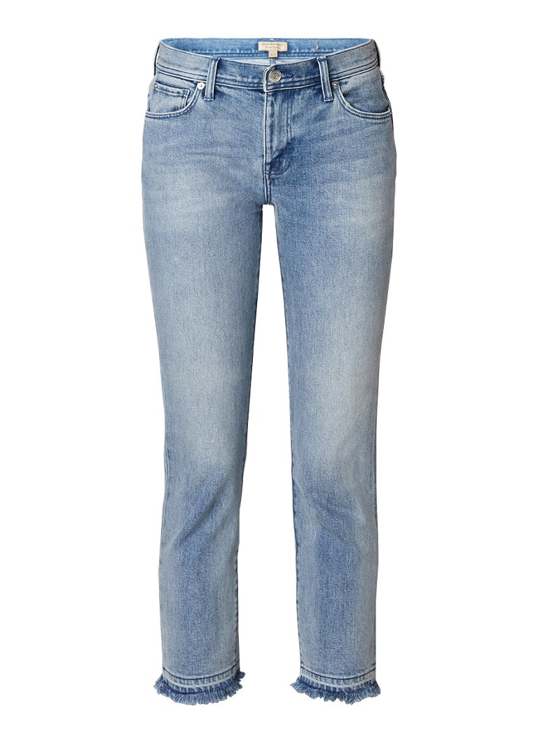 BURBERRY Mid rise slim fit cropped jeans met faded look