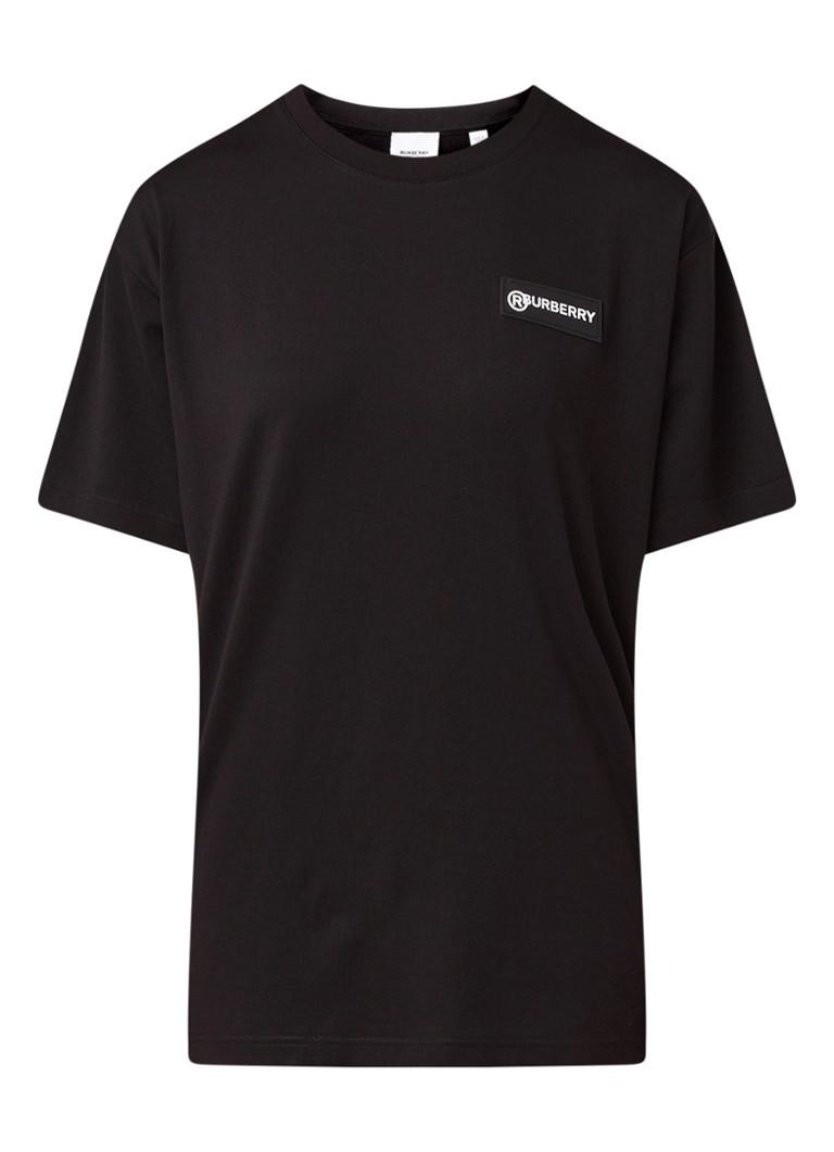 Carrick T shirt met merkapplicatie en ruitdessin