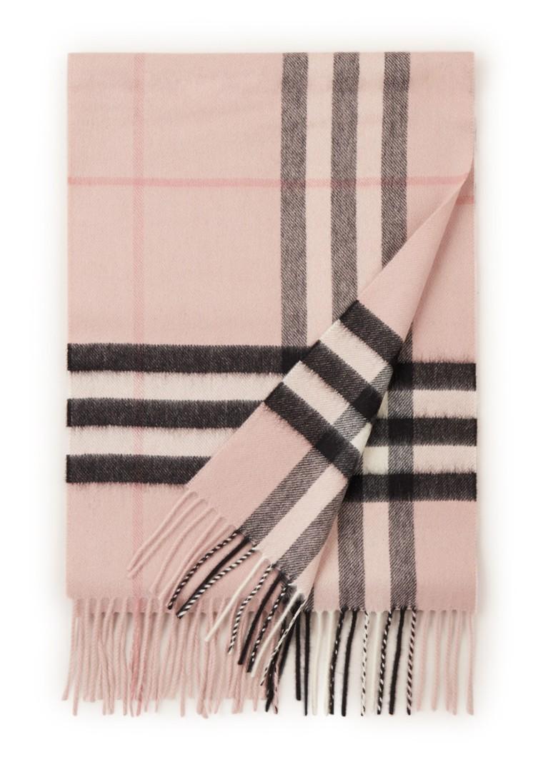 BURBERRY The Classic Check sjaal van kasjmier 170 x 30 cm