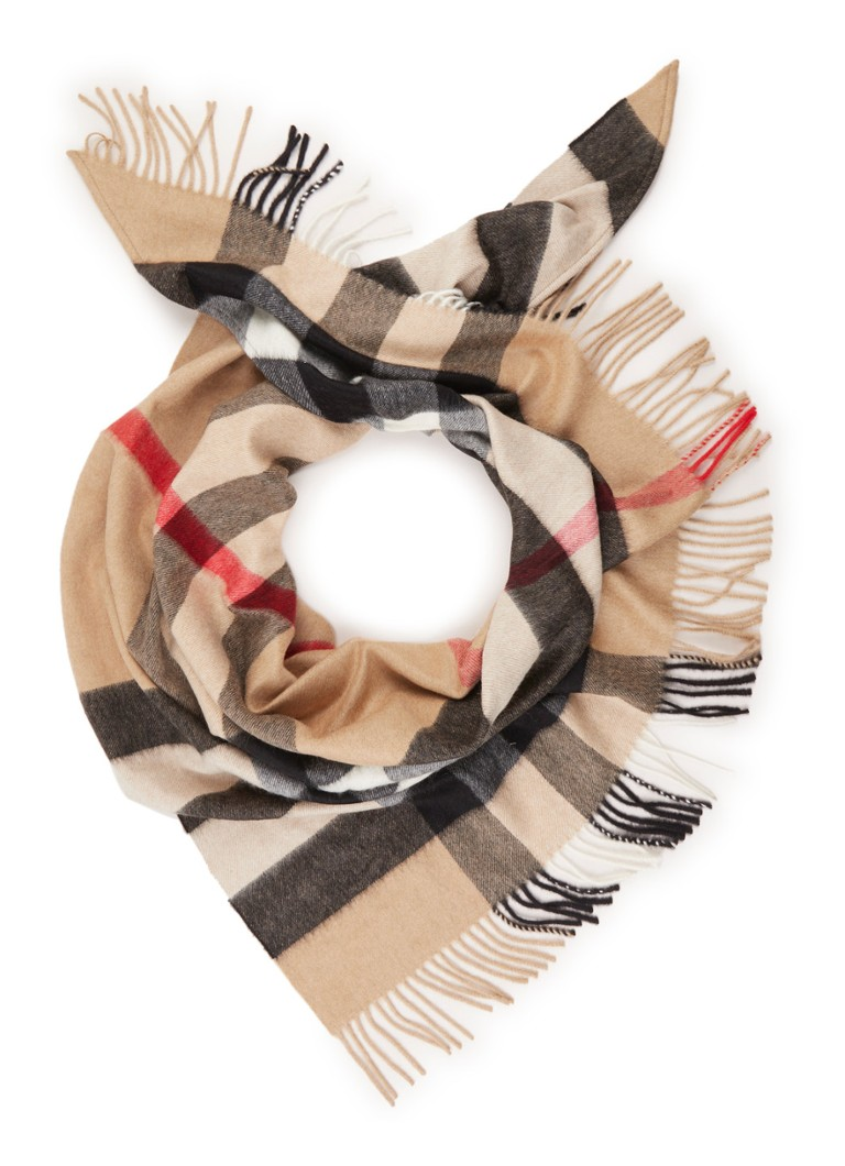 BURBERRY Check Bandana sjaal van kasjmier 170 x 85 cm