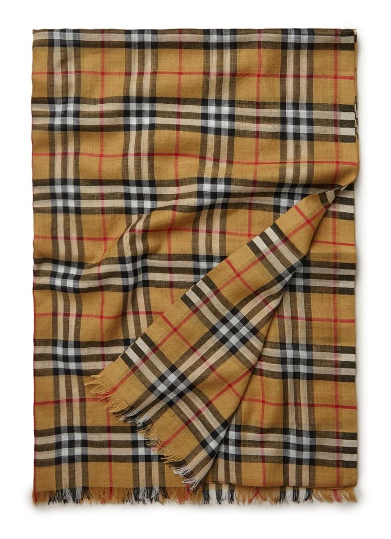 BURBERRY Gauze sjaal van wol met zijde 220 x 70 cm
