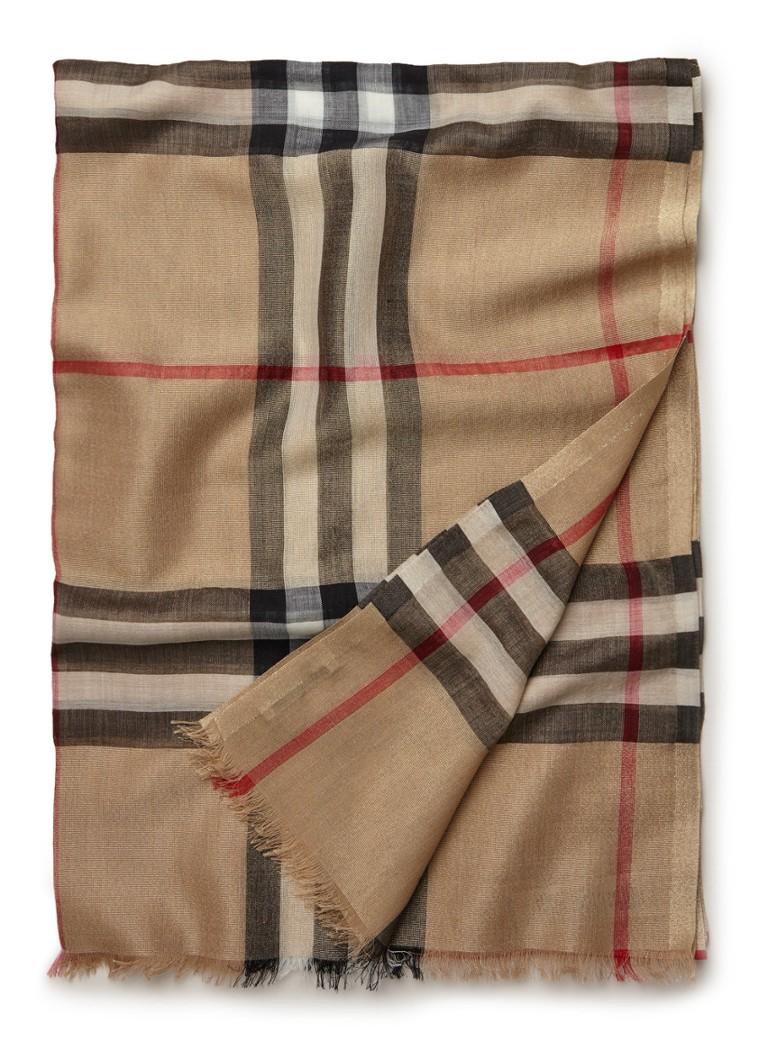 BURBERRY Gauze sjaal in zijdeblend 215 x 70 cm