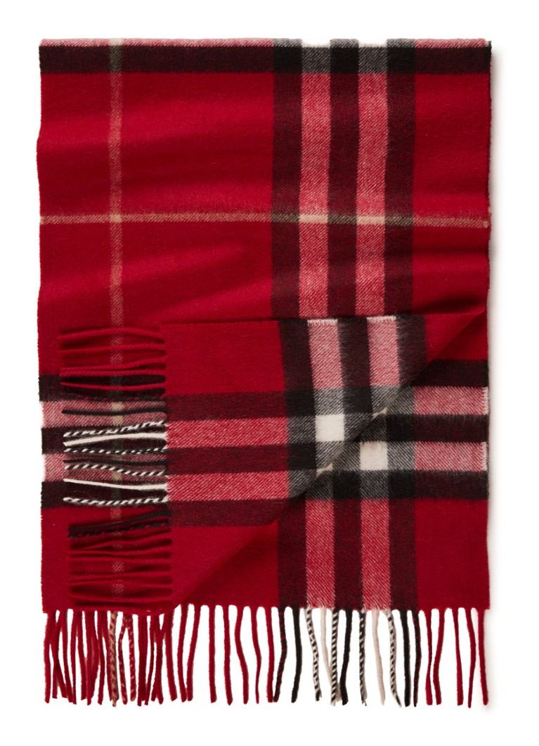 BURBERRY Giant Check sjaal van kasjmier 170 x 30 cm