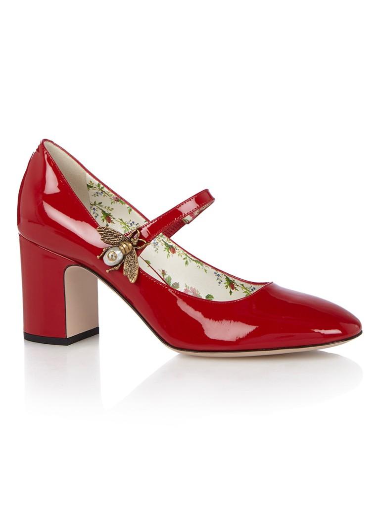 Gucci Lois Mary Jane pump van lakleer