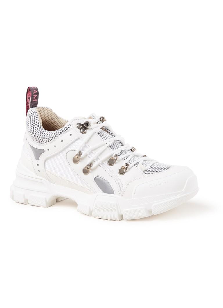Gucci Flashtrek sneaker met suede en leren details