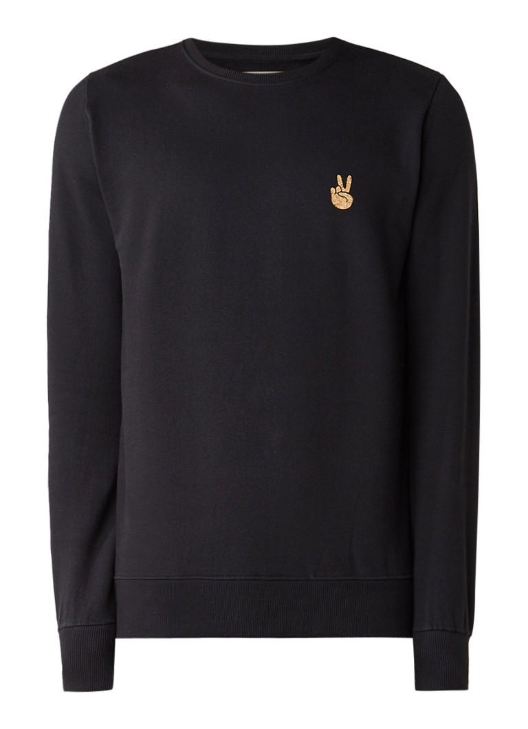 RVLT Revolution Peace sweater met applicatie