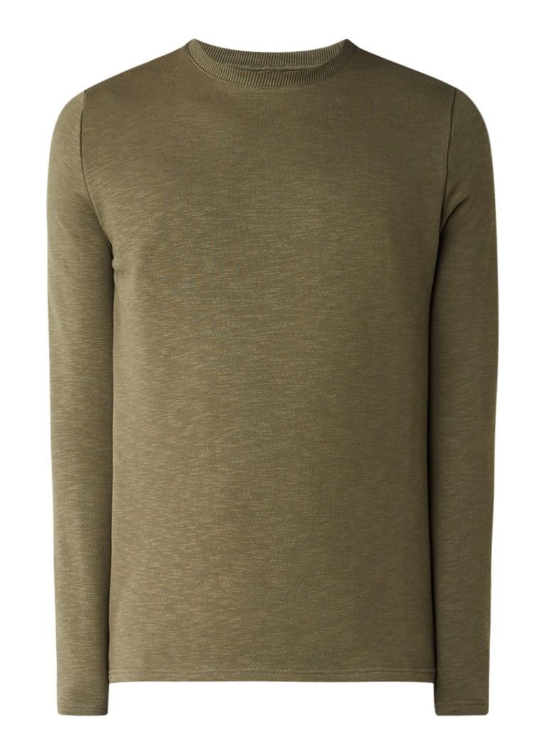 RVLT Revolution Sweater van katoen met ronde hals