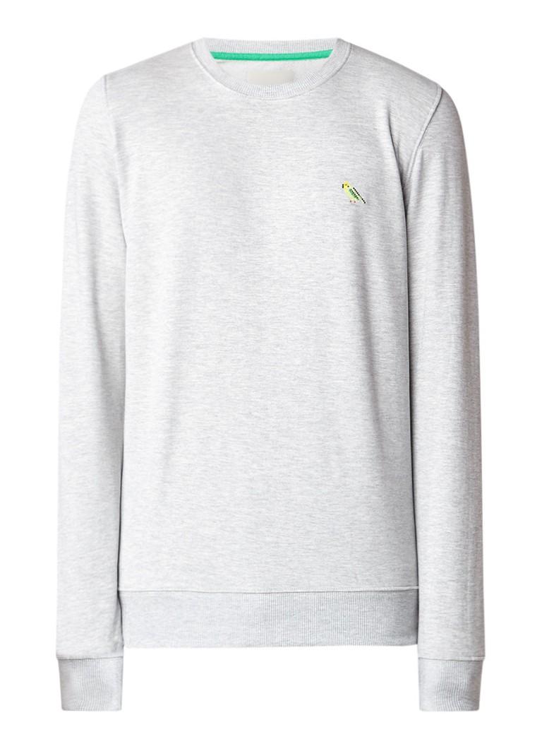 RVLT Revolution Parrot gemêleerde sweater met papegaai-borduring