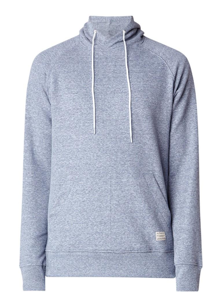 RVLT Revolution Gemêleerde hoodie met raglanmouw en tunnelzak