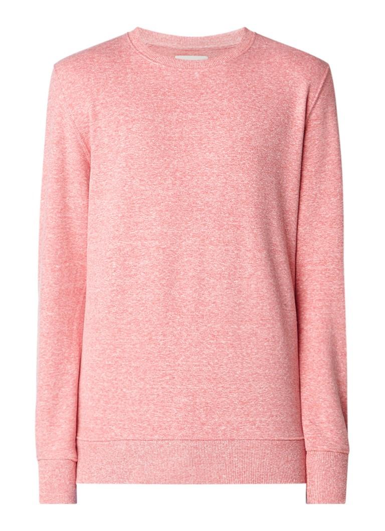 RVLT Revolution Gemêleerde sweater met ribgebreide boorden