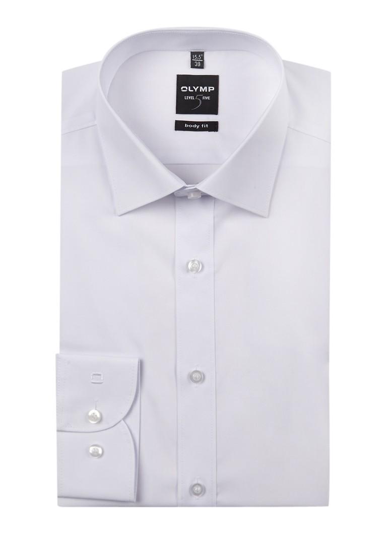 Olymp Body fit strijkvrij overhemd met extra lange mouwen