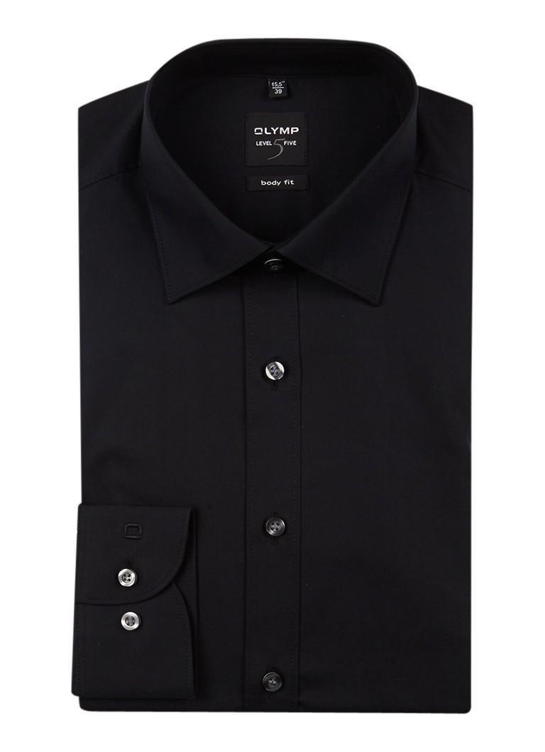 Olymp Level 5 Zakelijk overhemd schwarz