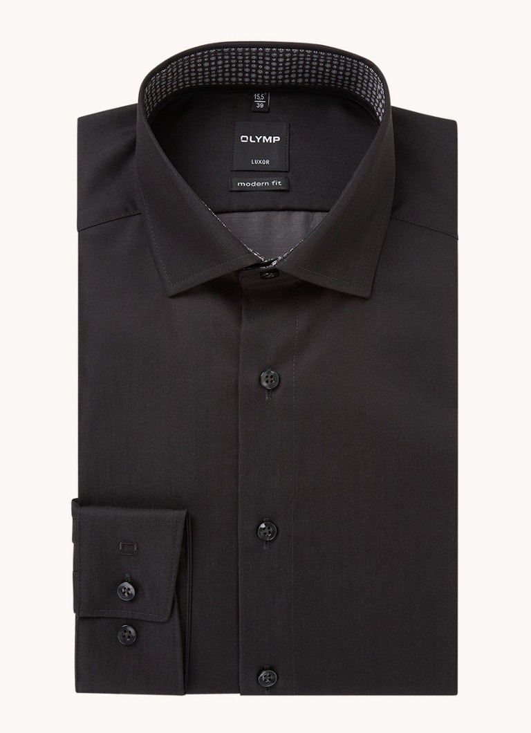 Olymp Regular fit overhemd van katoen