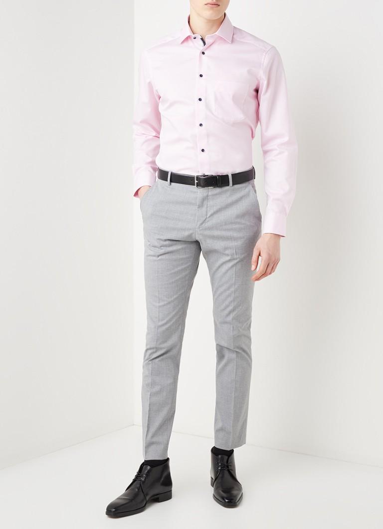 Olymp Modern fit strijkvrij overhemd met stretch