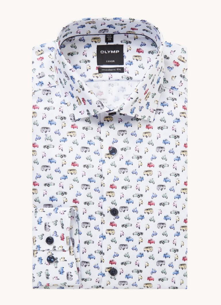 Olymp Modern fit overhemd met print