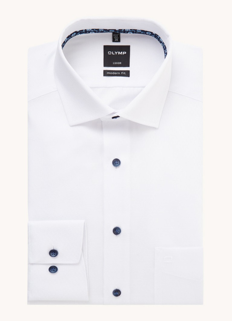 Olymp Modern fit strijkvrij overhemd