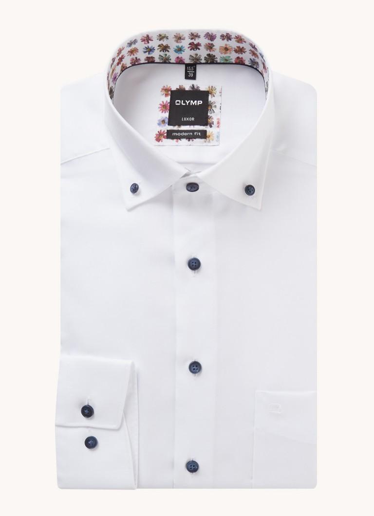 Modern fit overhemd met borstzak