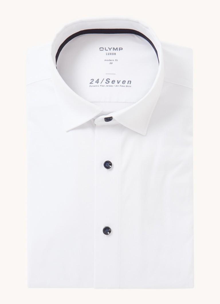 24 Seven modern fit overhemd met stretch