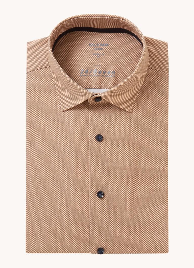 Olymp Seven modern fit overhemd met microdessin