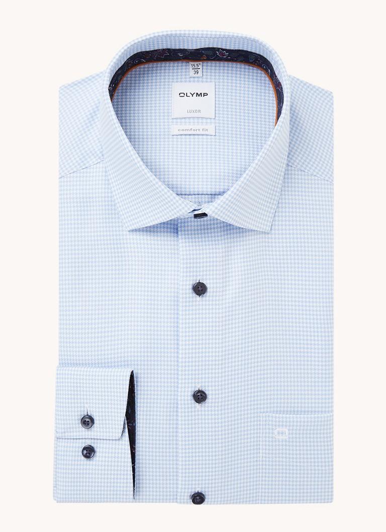 Olymp Comfort fit strijkvrij overhemd met print