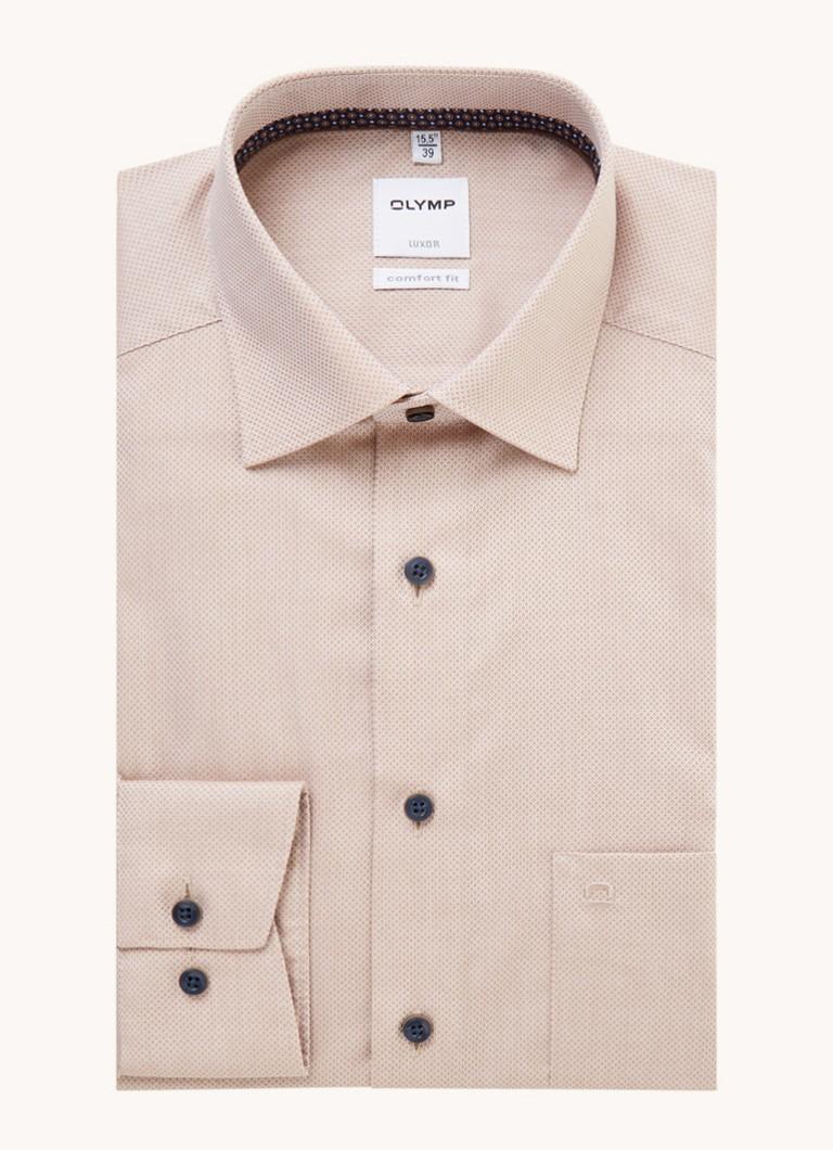 Olymp Comfort fit overhemd met microdessin
