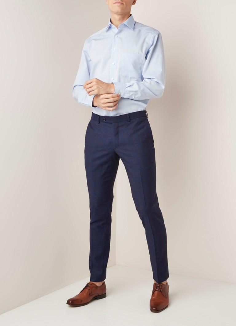 Olymp Comfort fit strijkvrij overhemd met borstzak
