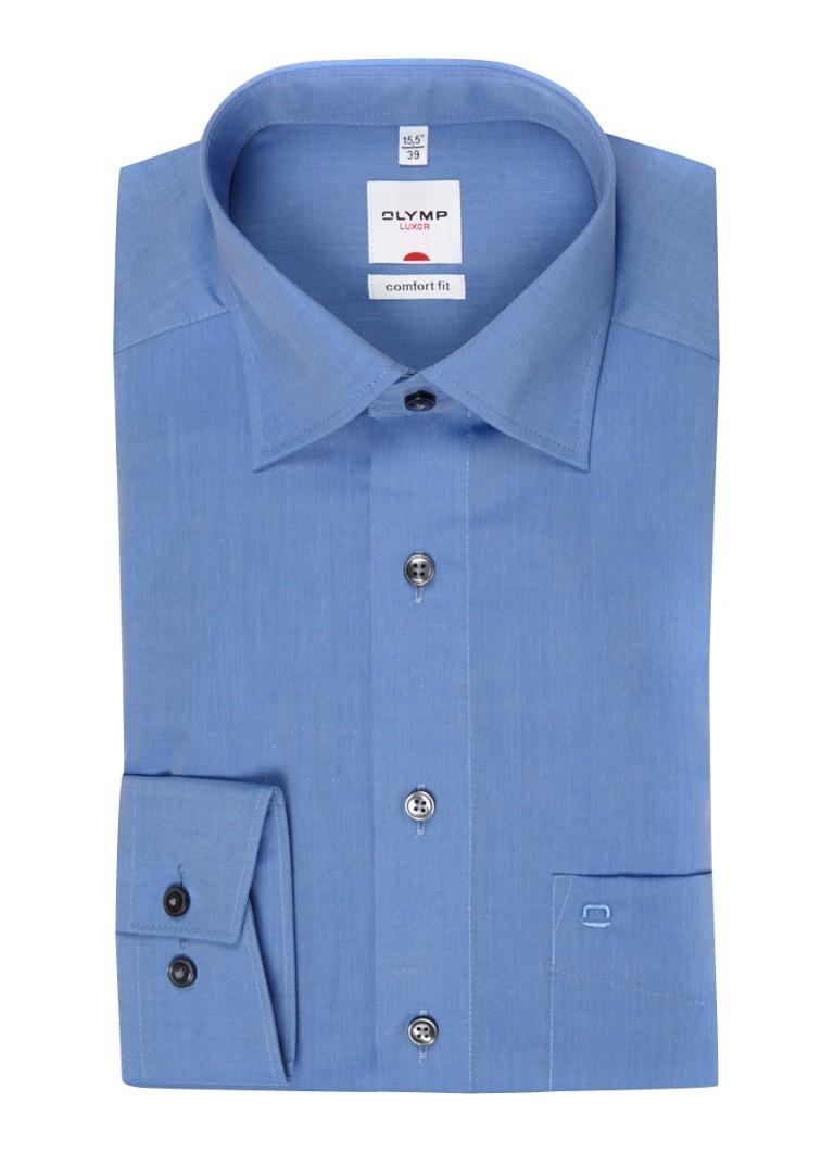 Olymp Strijkvrij lichtblauw comfort fit overhemd