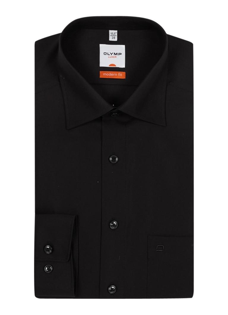 Olymp Luxor MODERN FIT Zakelijk overhemd Zwart