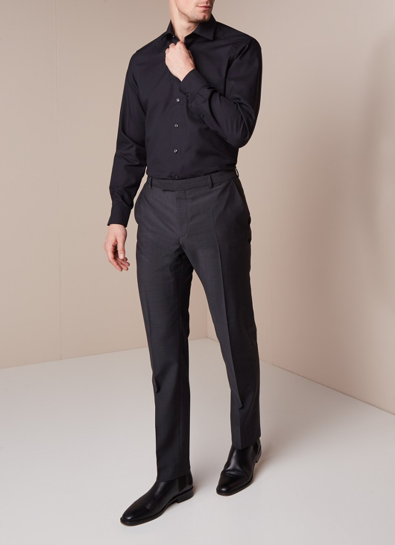 Olymp Modern fit strijkvrij overhemd met borstzak