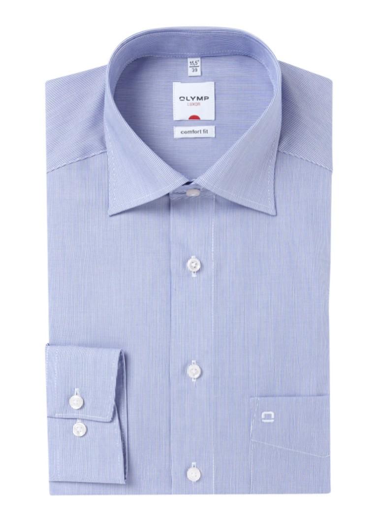Olymp Strijkvrij comfort fit overhemd met streepmotief