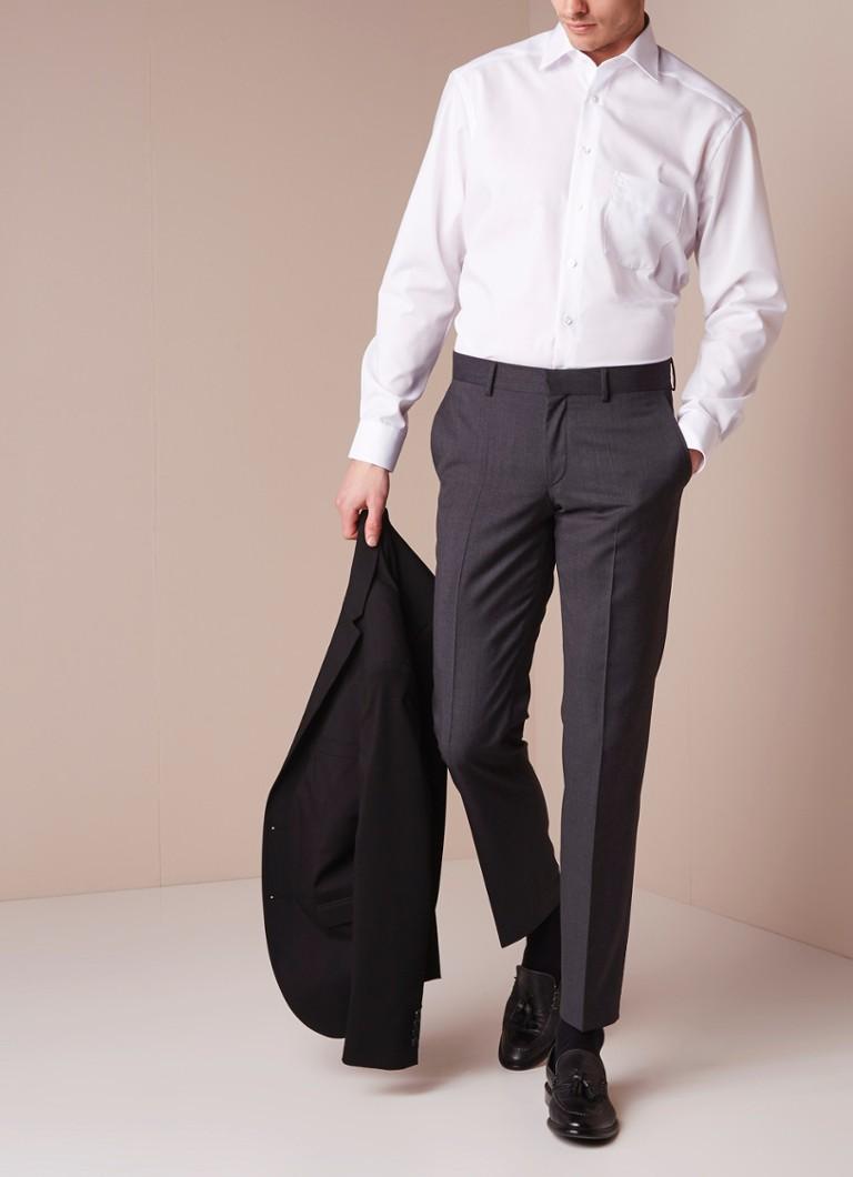 Olymp Comfort fit strijkvrij overhemd met steekzakje
