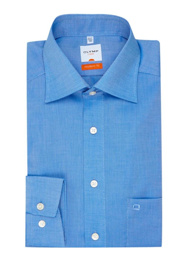 Olymp Overhemd met semi wide spread kraag