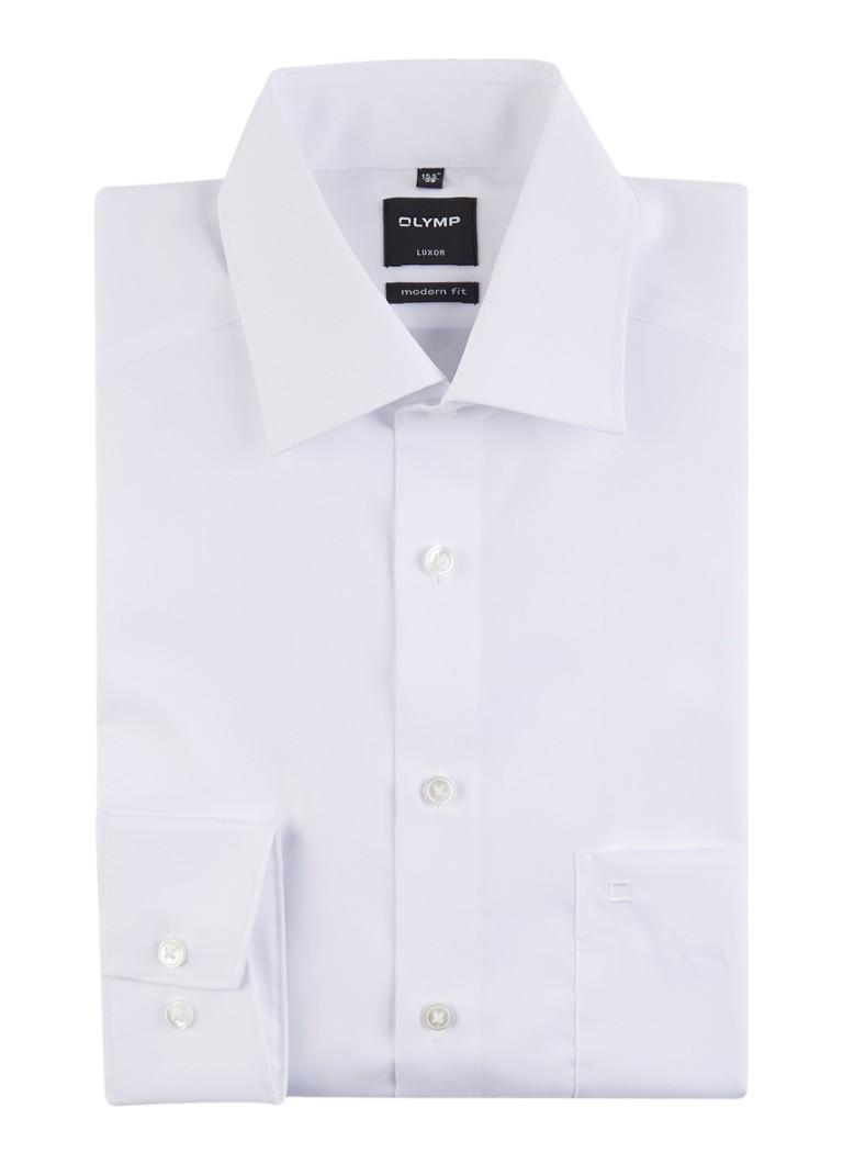 Modern fit overhemd met extra lange mouwen