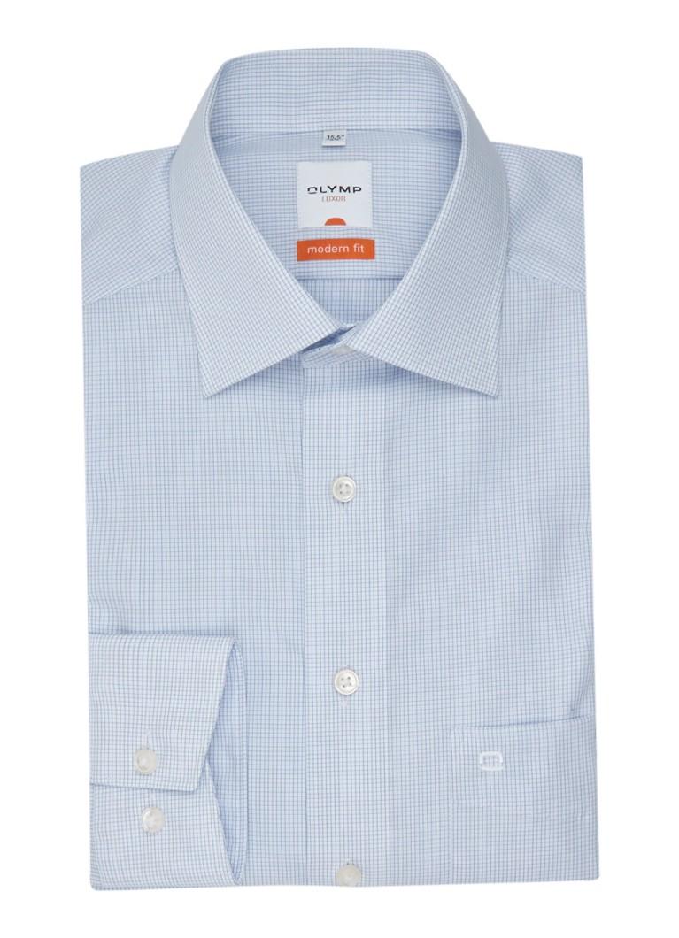 Olymp Regular fit overhemd met ruitmotief