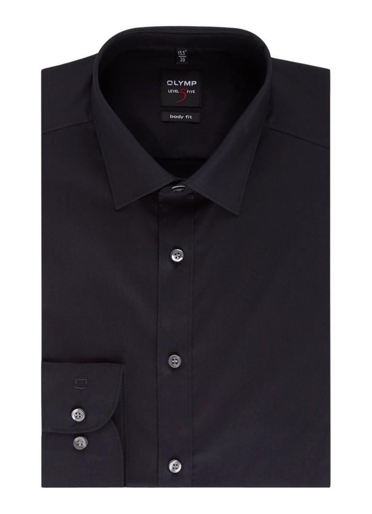 Olymp Body fit strijkvrij overhemd van katoen