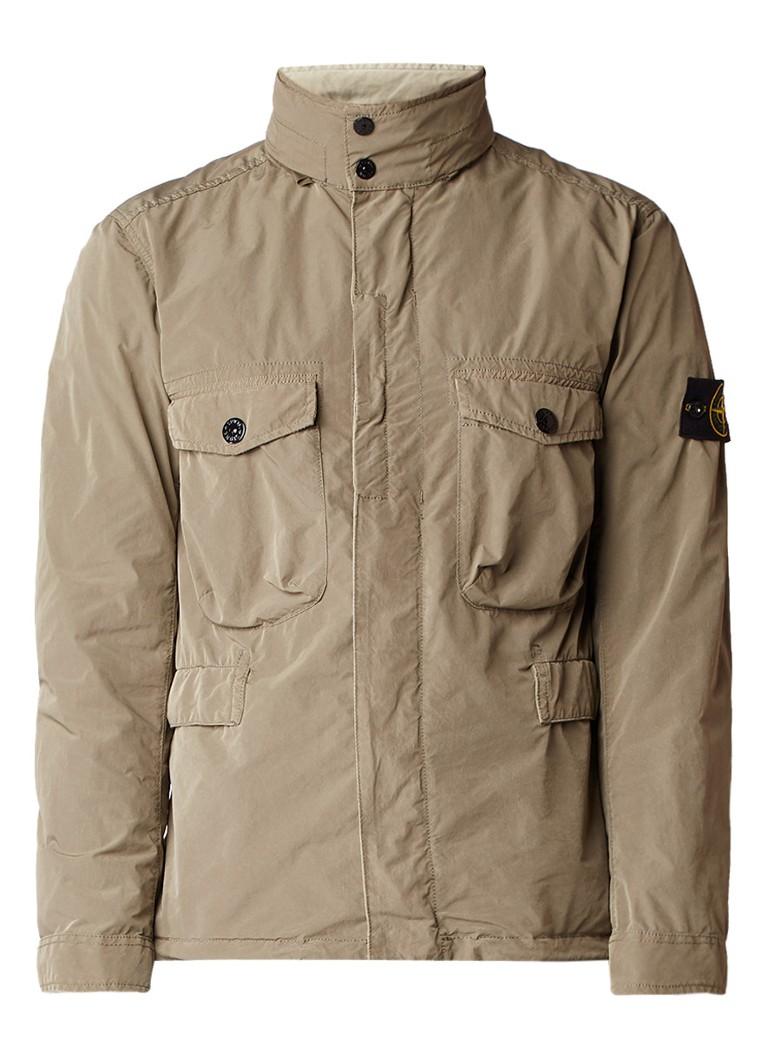 Stone Island 41851 David field jacket met merkembleem