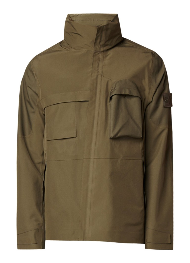 Stone Island 427F1 Ghost field jacket met merkembleem